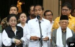 조코 위도도(조코위) 현 인도네시아 대통령이 지난 18일 기자회견에서 대선 승리를 선언했다.