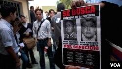 Óscar Mejía es acusado de planear el exterminio del poblaciones indígenas durante el conflicto armado interno de Guatemala de 1960 a 1996.