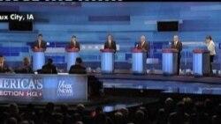 美国共和党人爱荷华州选前最后辩论