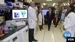 Presidenti Trump në Qendrën Kombëtare të Studimit të Vaksinave
