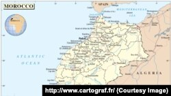 La carte du Maroc