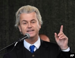 FILE - Geert Wilders, leader of the Dutch anti-Islam Freedom Party.