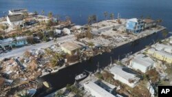 Tres de los cinco huracanes más costosos en la historia del país sucedieron el año pasado. En la foto, vista aérea de Big Pine Key, Florida luego del paso del huracán Irma. Sep. 13 de 2017.
