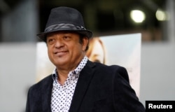 "Cast member Paul Rodriguez poses at a premiere for the movie ""Pray for Rain"" in Los Angeles, June 7, 2017."