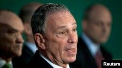"""""""Si puedes medir el riesgo (del cambio climático), puedes planificar y gestionar mejor la situación"""", dijo el ex alcalde de Nueva York, Michael Bloomberg."""