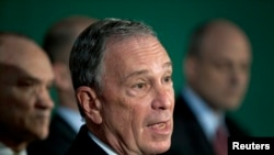 前纽约市市长迈克尔·R·布隆伯格 (资料照片)