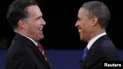 Republican presidential nominee Mitt Romney and U.S. President Barack Obama