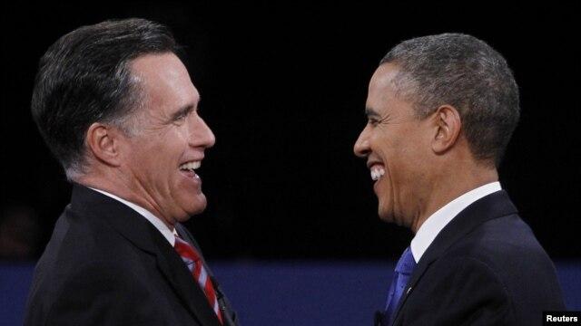 Tổng thống Barrack Obama và Ông Mitt Romney