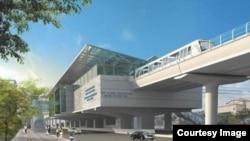 Dự án đường sắt đô thị Cát Linh - Hà Đông, được khởi công tháng 10/2011.