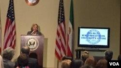 از جمله سخنرانان این نشست، ایلیانا راس لیتنین، نماینده جمهوریخواه از فلوریدا بود.