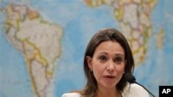 María Corina Machado fue invitada por el Senado brasileño para exponer la crisis política en Venezuela.