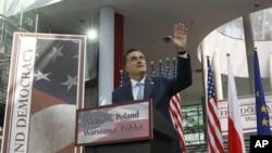 共和黨總統候選人羅姆尼訪問波蘭