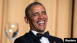 Predsednik Obama tokom Večere Udruženja dopisnika iz Bele kuće, 3. maj, 2014.