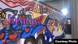 Lady Gaga's Born Brave tour bus