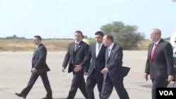 Dolazak Ban Ki-muna na aerodromu u Beogradu