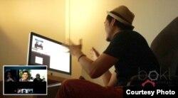 Animator film Hollywood, Ronny Gani, saat mengajar lewat kelas online miliknya, 'Bengkel Animasi.'