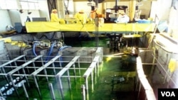 Kegiatan di fasilitas nuklir Korut di Yongbyon (foto dokumentasi).