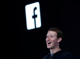 Mark Zuckerberg introduces 'Home' a Facebook app suite during a press event in Menlo Park, California, Apr. 4, 2013.