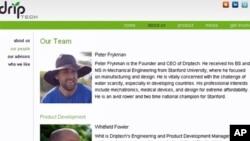 彼得.弗雷克曼创办的网站截图