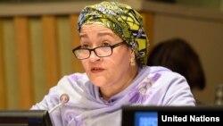 Mutewedzeri wemunyori mukuru weUnited Nations, Amai Amina Mohammed.