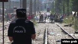 Des migrants en Macedoine.