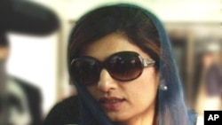 Pakistan foreign minister Hina Rabbani Khar is shown in this file photo.