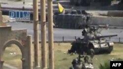 Сирийские танки на улицах города Хамы. 1 августа 2011г.