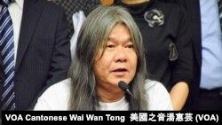 被法庭取消立法會議員資格的梁國雄 (攝影:美國之音湯惠芸)