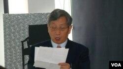 政治评论家胡平 (美国之音宋德成拍摄)