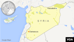 Map of Hassakeh, Syria
