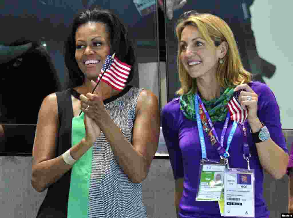 Перша леді США Мішель Обама на врученні медалей.