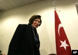 FILE - Former US Ambassador to Azerbaijan Anne Derse.