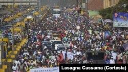 Bissau, manifestação (imagem de arquivo)