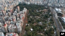 An aerial view of the Eco-park in Buenos Aires, Argentina, Aug. 7, 2018.