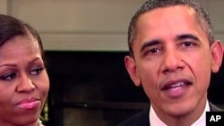 Presiden Obama bersama ibu negara Michelle Obama mengucapkan selamat Ramadan kepada segenap kaum Muslim di seluruh dunia (foto: dok).