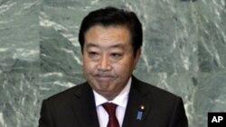 유엔에서 연설하는 노다 요시히코 일본 총리(자료사진)