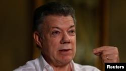 Le président Juan Manuel Santos, Prix Nobel de la Paix 2016, à Bogota en Colombie, le 5 septembre 2016. (Reuters/ John Vizcaino)