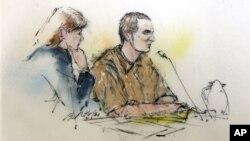 Адвокат Джуди Кларк и Джаред Ли Лафнер в зале суда города Тусон, штат Аризона. Август 2012 г.
