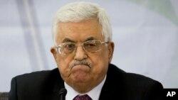 마하무드 압바스 팔레스타인 자치정부 수반이 4일 요르단 서안지구 라말라흐에서 열린 팔레스타인해방기구 중앙위원회 회의에 참석했다.