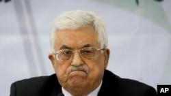 Chủ tịch Palestine Mahmoud Abbas dự cuộc họp với Tổ chức Giải phóng Palestine trong thành phố Ramallah, ở bờ Tây, 4/3/15