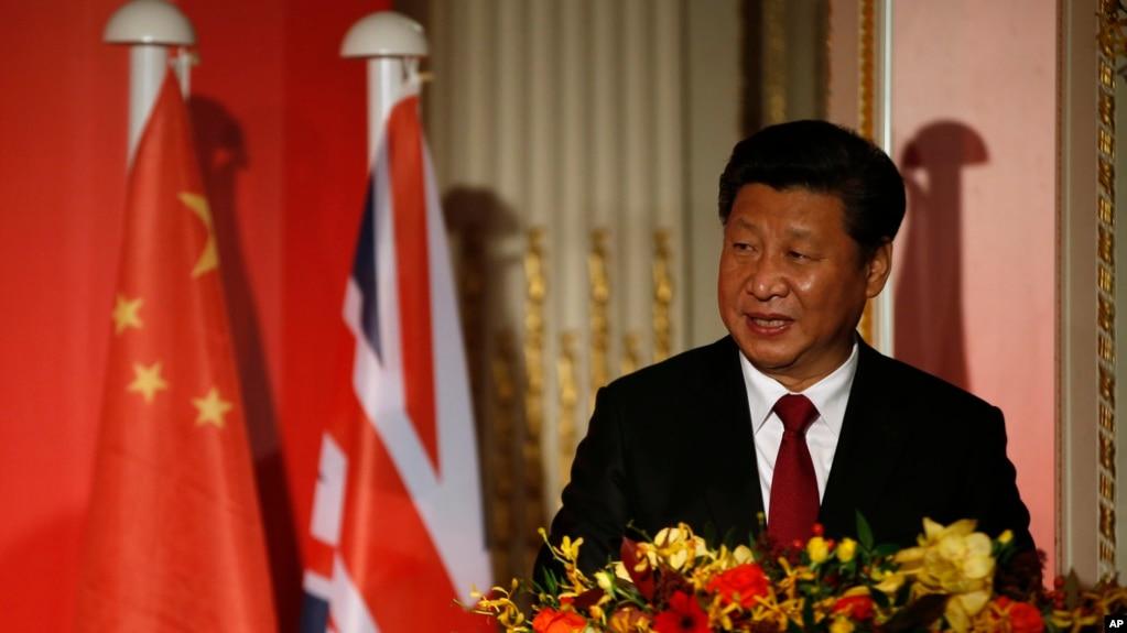 Chủ tịch Trung Quốc Tập Cận Bình phát biểu tại hội nghị hàng năm của Viện Khổng Tử ở London, ngày 22/10/2015.