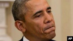 Tổng thống Barack Obama trả lời một câu hỏi liên quan đến tình hình tại Ukraina trong cuộc gặp gỡ Thủ tướng Israel Benjamin Netanyahu tại phòng Bầu dục của Tòa Bạch Ốc, ngày 3/3/2014.