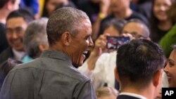 Tổng thống Barack Obama tại trường Kotzebue, thành phố Kotzebue, Alaska hôm thứ Tư 2/9/2015.