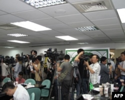 蔡英文宣布参选吸引大批媒体