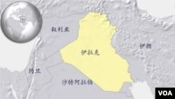伊拉克和周边国家简图