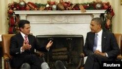 Tổng thống Mỹ Barack Obama hội đàm với Tổng thống Mexico Enrique Pena Nieto tại Tòa Bạch Ốc, Washington, 27/11/2012