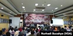 Suasana diskusi akhir tahun di Kantor PP Muhammadiyah, Yogyakarta, Senin, 30 Desember 2019. (Foto: Nurhadi Sucahyo/VOA)