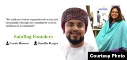 Pendiri SainBag, Husain Baomar dan Shradha Rungta (foto: courtesy).