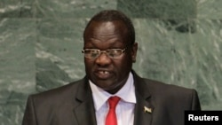 FILE - South Sudan's former vice president Riek Machar