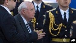 Михайло Горбачов на Параді перемоги у Москві. Червона площа, 2013 рік.